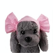 Creatieve kat hond Candy kleur grappige tidy Props hoofdband Hooded hoed (roze stip)