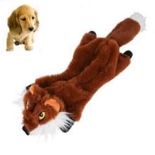 Hond speelgoed Bite slijtage-resistente vocale Molars huisdier pluche medium grote leveringen  grootte: Small (Fox)