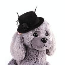 Huisdier Europese gentleman hoed huisdier Headwear hoed (zwart)