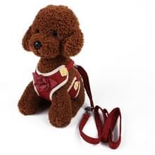 2 PC'S hond riemen borst bandjes kleine medium honden vest hond leveringen  grootte: M (rood)