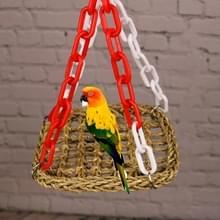 Handleiding Bird Parrot Toy Swing Braid hangmat hangbrug  specificatie: 30x30cm