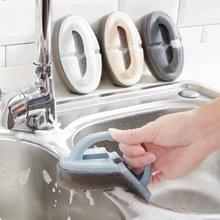 Opvouwbare badkamer toilet keuken glas muur borstel onder spons borstel tool  kleur levering willekeurig