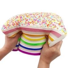 Jumbo Rainbow driehoek cake squeeze Toy Slow Rising stress Relif speelgoed voor kinderen