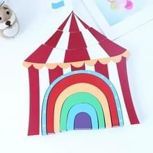 Kinderen speelgoed houten stapels Rainbow blokken Circus ornamenten Home Decoratie