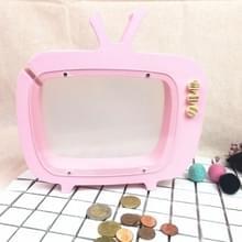 Houten TV opslag tank kinderen kamer display fotografie rekwisieten speelgoed (roze)