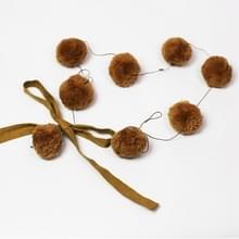 Home wieg muur met Bow haar bal hanger opknoping fotografie Props (bruin)