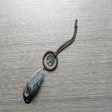 Vintage Feather eenvoudige literaire sieraden sleutelhanger