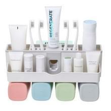 Wandmontage Lazy Simple automatische tandpasta tandenborstel houder set  specificatie: familie van vier