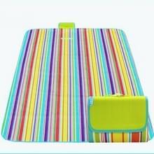 600D Oxford doek buiten picknick mat picknick doek waterdichte matten voorjaar reizen Beach mat  specificaties (lengte * breedte): 150 * 120 (kleurrijke streep)