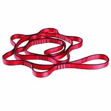 Luchtfoto hangmat 7 ring extension belt nylon hoge-sterkte dubbele riem hangmat riem  lengte: 1 1 m (rood)