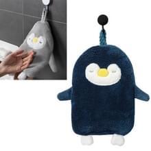 Huishouden Penguin Opknoping Type Hand tTowels Sterke Water-absorberende Small Dish Handdoek (Twist Blue)