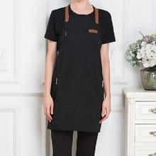 Melk thee koffie Fondue restaurant canvas schort (zwart)