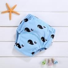 Baby katoen wasbaar Vierlaags gaas luier  geschikte hoogte: 110 werven (zwarte walvis)