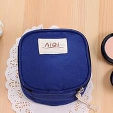 AIQI multi-functionele natte herbruikbare tas menstruele pad sanitaire pads make-up tassen make-up tool organisator tas (marineblauw)