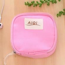AIQI multi-functionele natte herbruikbare tas menstruele pad sanitaire pads make-up tassen make-up tool organisator tas (Rose rood)