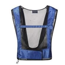 Draagbare lasser Heatstroke koeling Air conditioning vest  grootte: One size (blauw)