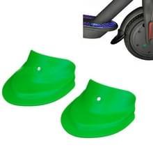 3 paren Scooter Fender Fishtail Rubber voor- en achterspatbord gewijzigde accessoires voor Xiaomi M365 / Pro(Spatbord Groen)