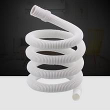 2 PCS 18mm Diameter Plastic Drain Pipe Water Outlet Extension Hose met klem voor semi-automatische wasmachine / airconditioner  grootte: 1m lengte