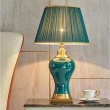 Keramische tafellamp handgemaakte keramische retro Europese woonkamer slaapkamer bed tafel lamp  maat: S (Q59)