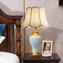 Keramische tafellamp handgemaakte keramische retro Europese woonkamer slaapkamer bed tafel lamp  maat: S (Q216)