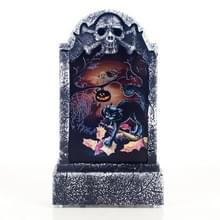 2 PC'S Halloween Bar sfeer retro simulatie tombstone verlichting decoraties (zwarte katten)