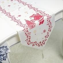 2 stks kerst stof print tabel vlag decoraties (Santa)
