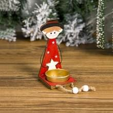2 PC'S kerst geschilderd metalen kandelaar accessoires scène decoratie (jongen)
