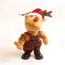 2 stks kerst elk elektrisch speelgoed kinderen Kerstcadeaus  grootte: 35x41x15cm