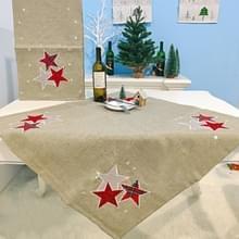 2 PC'S kerst stof kerstboom borduurwerk tabel vlag decoraties  stijl: vierkant (kaki)