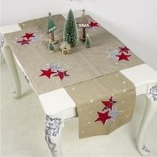 2 PC'S kerst stof kerstboom borduurwerk tabel vlag decoraties  stijl: vierkant + rechthoek (kaki)