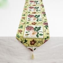Retro Home bloem Butterfly borduurwerk katoen linnen tabel mat koffietafel mat vakantie decoratie (B-sectie)