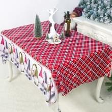 2 PC'S kerst cartoon gedrukte polyester tafelkleed sieraad  grootte: 150x180cm (streep)