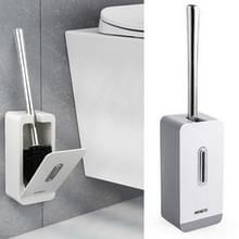 MENGNI zuig muur lange handvat toilet borstel opbergdoos badkamer schoonmaken Kit (grijs)