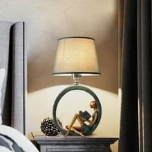 Moderne bed lezing standbeeld basis lamp huis decoratie  lichte kleur: knop schakelaar 3W witte gloeilamp