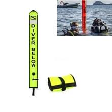 210D Nylon Automatic Seal Safety Signal Duikboei  grootte:120 x 18cm (Fluorescerend geel)