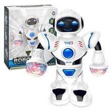 Elektrische Hyun Dance robot LED licht muziek Kinder educatief speelgoed (wit)