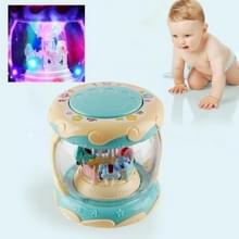 Kinderen Touch multifunctionele hand Drum muziek vroege onderwijs intelligentie speelgoed met verlichting (groen)