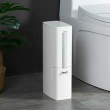 Badkamer trash kan Toiletborstel set toilet vuilnis container (wit)