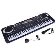 MQ-6106 61-key multifunctionele kinderen Simulatie elektronische piano kinderen Intelligence muziek speelgoed  EU plug (zwart)