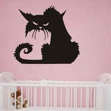 2 sets Halloween eng zwarte kat glas muur sticker decoratie  grootte: 43X37 CM