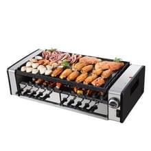 Huishoudelijke elektrische oven Rookvrije non stick elektrische bakken pan Grill spiesjes huishoudelijke barbecue grill machine