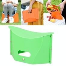 Outdoor picknick draagbare multi-functionele creatieve kunststof vouwen kruk stoel (groen)