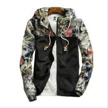 Floral Bomber Jacket Heren Hip Hop Slim Fit Bloemen Pilot Bomber Jas Jassen voor heren  maat: XL(Zwart)