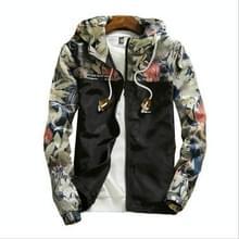 Floral Bomber Jacket Heren Hip Hop Slim Fit Bloemen Pilot Bomber Jas Jassen voor heren  maat: 4XL(Zwart)