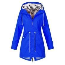 Vrouwen Waterdichte regenjas Hooded regenjas  maat: M (blauw)