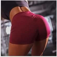 Vrouwen sportschool sport shorts fitness yoga broek strand buiten jogging Hiking Trunks L (rood)