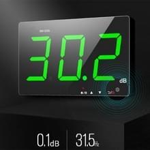 SNDWAY wandmontage 30 ~ 130dB groot scherm digitaal display Noise decibel monitoring testers  specificatie: SW525G met opslag + USB groen