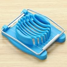 2 stks multifunctionele RVS ei bewaard ei slicer fancy splitter keuken levert ei snijgereedschappen (blauw)