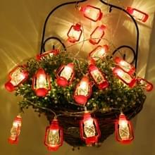 3m 20 LED's USB Power Retro Kerosine Lamp LED Lights String Bedroom Decoration (Wit Licht)