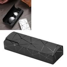 Lattice patroon draagbare glazen doos (zwart)